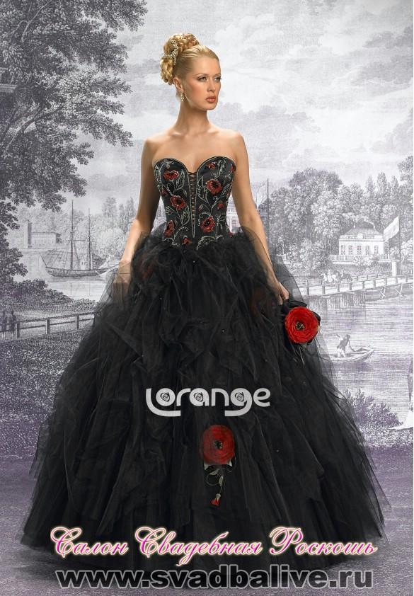 Черное свадебное платье купить 11