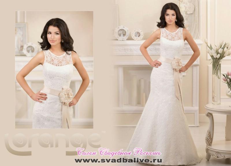 Платье свадебное розочка